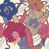 Naadloze floral textuur — Stockvector