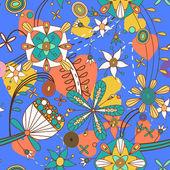 花卉矢量无缝纹理 — 图库矢量图片