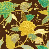 シームレスな花柄のテクスチャ — ストックベクタ