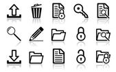 Navigační sada ikon — Stock vektor