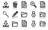 Zestaw ikon nawigacyjnych — Wektor stockowy