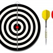 Dartboard with two darts — Stock Vector #10910086