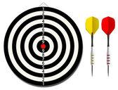 Tarcza z dwoma rzutki — Wektor stockowy