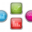Royalty-Free Stock Vector Image: Chart buttons