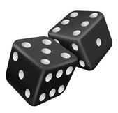 Two black dice — Stock Vector