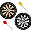 Royalty-Free Stock Vector Image: Dartboards with two darts