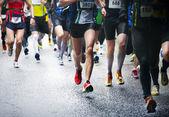 Maraton koşucu — Stok fotoğraf