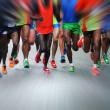 Marathon runners — Stock Photo