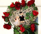 Wedding door decoration — Stock Photo