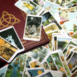 Tarot card reading and accessories — Stock Photo #11990982