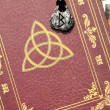 Stock Photo: Book of shadows and accessories