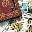 Tarot card reading and accessories — Stock Photo #11991188