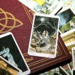 Tarot card reading and accessories — Stock Photo #11991252