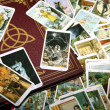 Tarot card reading and accessories — Stock Photo #11991276
