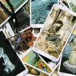 Stock Photo: Tarot card reading and accessories