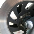 Stock Photo: Motorbike braking disc