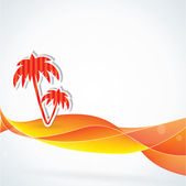 Abstract summer vector background, orange colors — Stock Vector