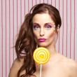 Lollipop girl — Stockfoto
