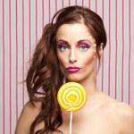 Lollipop girl — Stock Photo