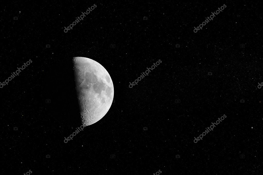 Half Moon on stars sky background — Stock Photo #11062721