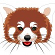 Stock Vector: Red panda
