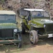 Stock Photo: Two old Jeeps