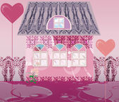 The sweet pink house — Stock Photo