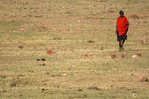 Masai Tribe Person - Ngorongoro Crater, Tanzania, Africa — Stock Photo