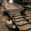 Stock Photo: Boat Building - Tonle Sap, Cambodia