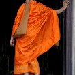Buddhist Monks - Wat Phnom, Phnom Penh, Cambodia — Stock Photo #11432872