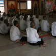 Monks at Prayer - Sihanoukville, Cambodia — Stock fotografie