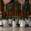 Stock Photo: Monks at Prayer - Sihanoukville, Cambodia
