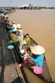 Boat - Tonle Sap, Cambodia — Stock Photo