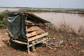 Wooden Storage Hut - Tonle Sap, Cambodia — Stock Photo