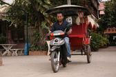 Cyclo - Siem Reap, Cambodia — Stock Photo