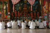 Monks at Prayer - Sihanoukville, Cambodia — Stock Photo