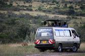 Safari Van - Maasai Mara Reserve - Kenya — Stock Photo