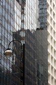 Street Lamp and Skyscraper , Hong Kong City, Asia — Stock Photo