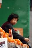 Fruit Vendor - Hong Kong City, Asia — Stock Photo