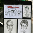 Caricature Vendor - Orchard Road, Singapore — Stock Photo