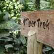 Tiger Trek Sign - Singapore Zoo, Singapore — Stock Photo