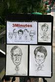 Caricature Vendor - Orchard Road, Singapore — Stock Photo