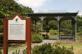 Sign - Botanical Gardens, Singapore — Stock Photo