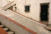 Passos e janela - fortaleza de guia, macau — Fotografia Stock