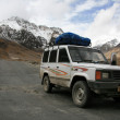 Stock Photo: Crossing the Mountains Manali to Leh, India