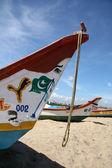 Wooden Boat - Marina Beach, Chennai, India — Stock Photo