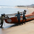 Stock Photo: Wooden Boat - MarinBeach, Chennai, India