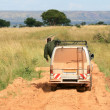 Safari Van - Murchison Falls NP, Uganda, Africa — Stock Photo