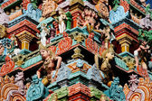 Carving Detail - Kapaleeshwar Temple, Chennai, India — Foto Stock