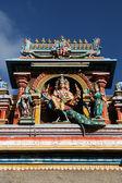 Intaglio dettagliata - tempio di kapaleeshwar, chennai, india — Foto Stock